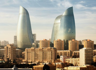 Gunnar Knechtel Photography, Azerbaijan,Baku. The  Baku Flame Tower.Photographed 17_22_01_2014 for Fairmont Magazine