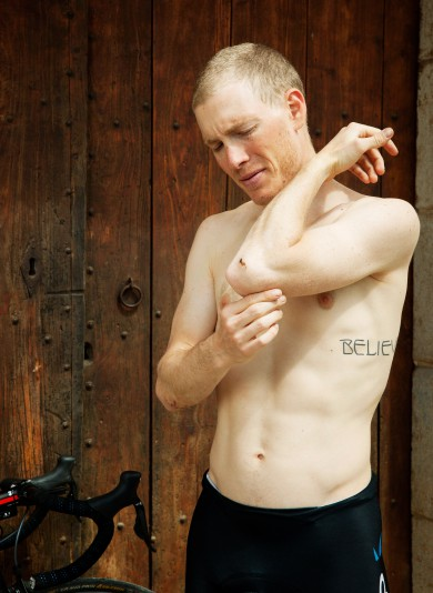 Gunnar Knechtel Photography, Spain, Girona, Portraits of american cyclist Andrew Talansky. Photographed at the cottage where he stays during training seasion near Girona. Photographed taken on 08.04.2013 for ESPN Magazin.