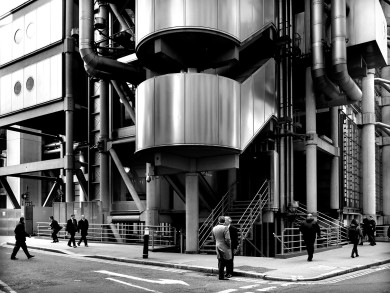 Llyod's Building, London, UK.  Architecture by Richard Rogers