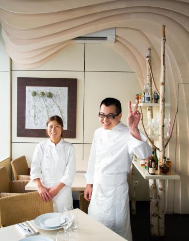 Restaurant Imouto -- (l-r) sous chef Junko Matsunaga and Chef Gaby Didonna