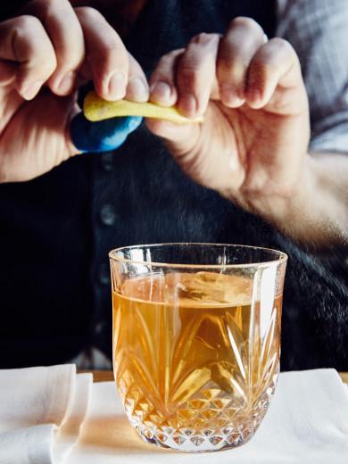 Chef Barbara Lynch's Drink bar -- Old Fashioned
