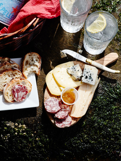 Lummi Island, Washington -- The Willows, charcuterie and cheese picnic