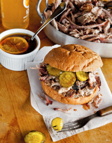 Pulled and Chopped Pork Barbeque Sandwich BBQ