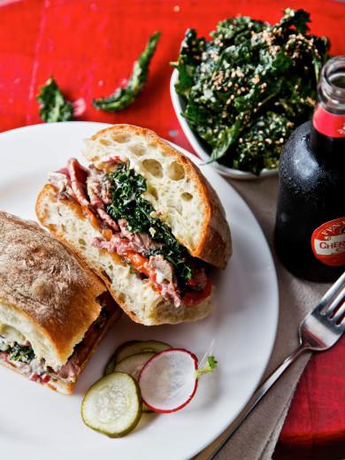 Butcher and Bee, Charleston SC -- Roast Beef Sandwich, Kale Slaw