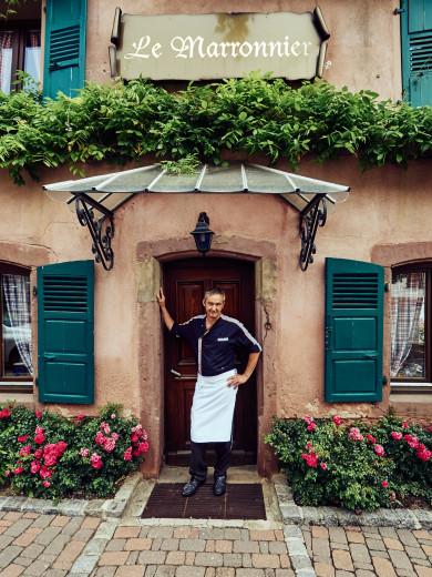 Chef Bouaza Frederic at Restaurant Le Marronniere