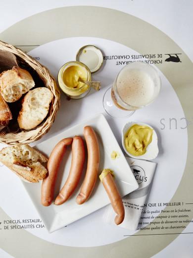 Knack (sausages) at Porcus, Strasbourg, France