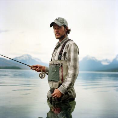 Adam. Fly Fisherman. Essex, Montana.