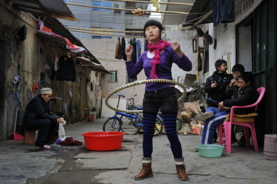 Wuwucun migrant village, mostly from SIchuan
