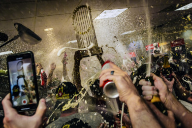 A day in a life of the World Series Trophy