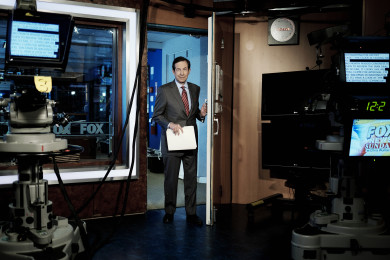 Chris Wallace of Fox News Prepares to Host GOP Debate