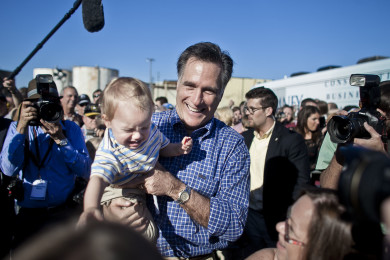Mitt Romney Campaigns in Panama City