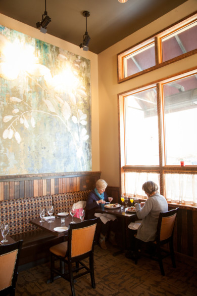 Brunch diners at The Barberry in McMinnville, Oregon