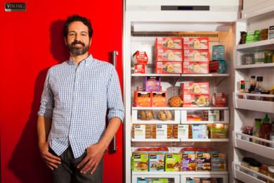 CEO Jaime Athos, at Tofurky test kitchen in Hood River, Oregon