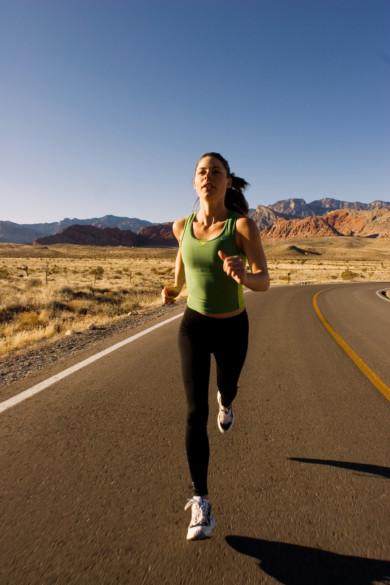 Road running, near Las Vegas Nevada