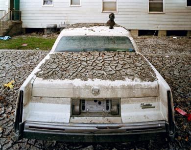 Cadillac in Mud