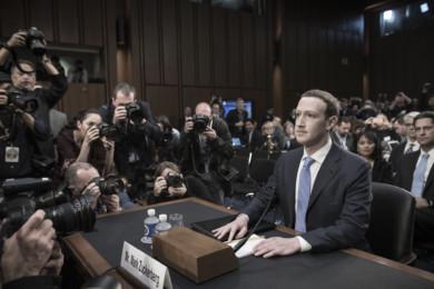 Facebook founder Mark Zuckerberg testifies before Congress, in Washington on April 10, 2018.