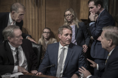 Senate Judiciary Committee hearing in Washington on September 28, 2018.