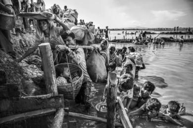 Exodus of Rohingya at Pulongkhali