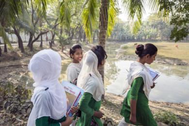 Students, Manpura Island, Bangladesh