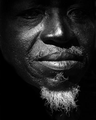 Dec. 10th 2012. A man without sight, Guinea-Bissau.