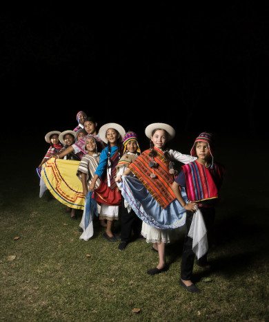 Children wearing traditional clothes, Salta, Argentina