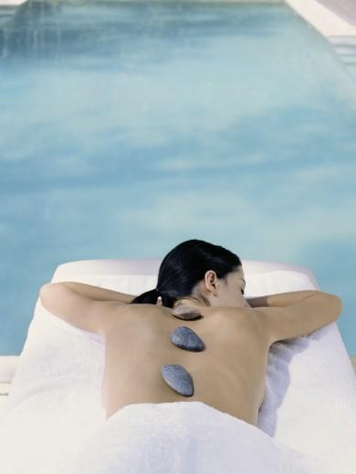 Parrot CayTurks & CaicosWoman relaxing , massageMR
