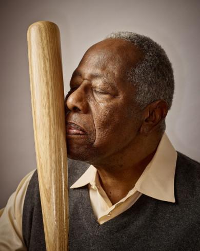 X158094 TK1: MLB Baseball: Henry Aaron at home. By Jeffery Salter - Jeff@Jefferysalter.com