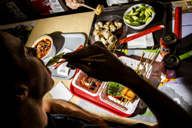 Guests dine at Hong Kong Food Court in Queens, New York on January 15, 2020.
