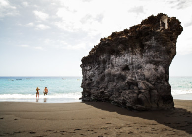 Spain, Canary Islands, La Palma, Puerto Naos, Strand
