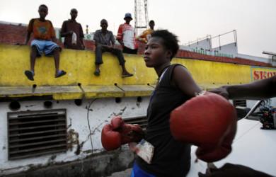 DRC CONGO-KINSHASA-FEMALE BOXING
