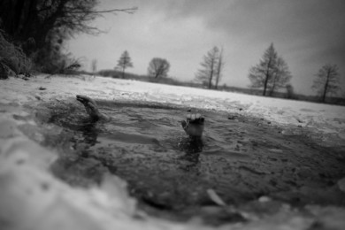 Winter bathing in Poland