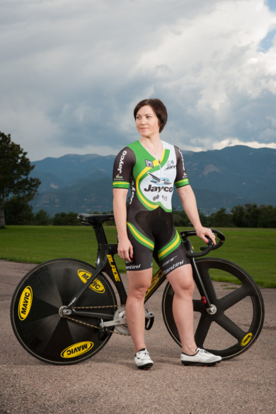 Aussie cyclist Anna Meares for The Adelaide Advertiser.