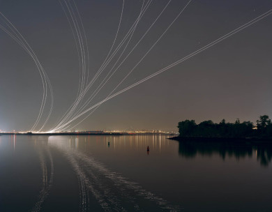 Nachtflüge Series - Planes in the night sky
