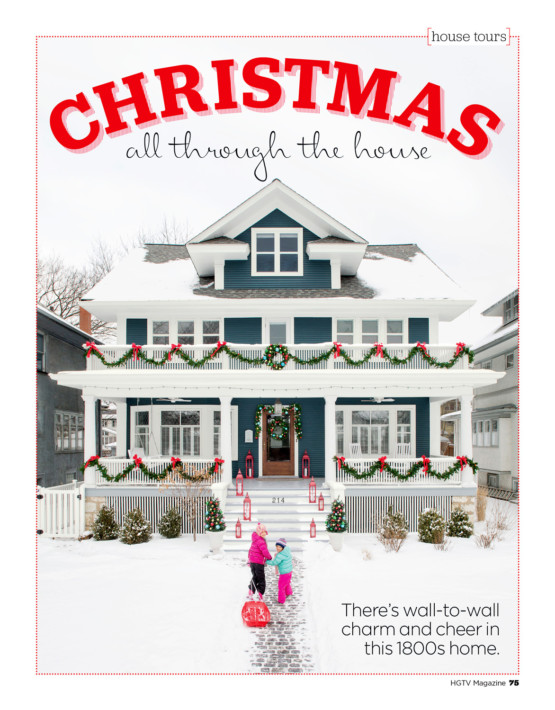 Photo by Kevin J. Miyazaki/Redux of a home for Christmas for HGTV magazine