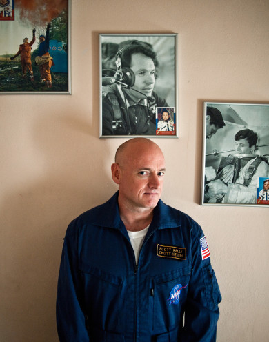 Astronaut Scott Kelly at Star City Moscow, Russia