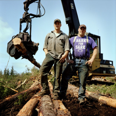 (L-R) Chris and Ryan. Brothers. Loggers. Forks, WA