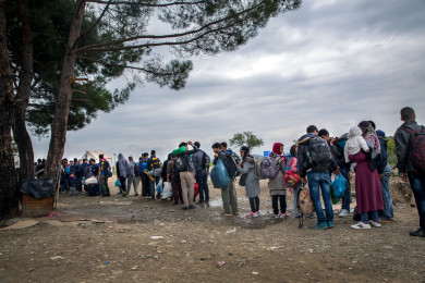 Migrant and refugee route to Europe