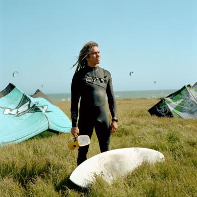 Patrick. Kite Surfer. Pacific Coast Highway, CA.