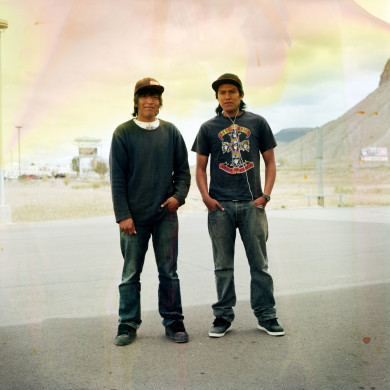 (L-R) Sylvestre and Tavito. Towaoc, CO.