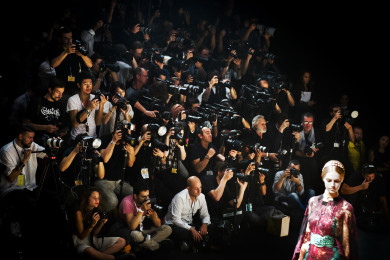 Backstage and Front Row at Paris Fashion Week, Spring 2014