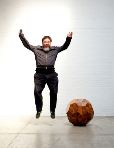 Ai Weiwei, Chinese artist and activist at his studio in Caochangdi Beijing.