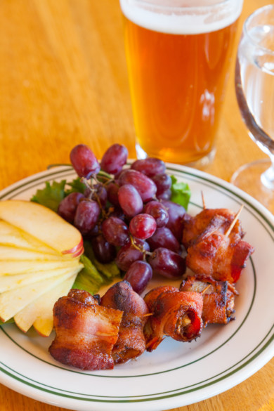 Bacon wrapped dates, at Baldwin Saloon in The Dalles Oregon