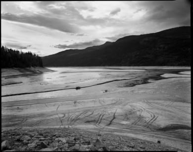 ATV Tracks, Low Water, Kinbasket Lake, BC