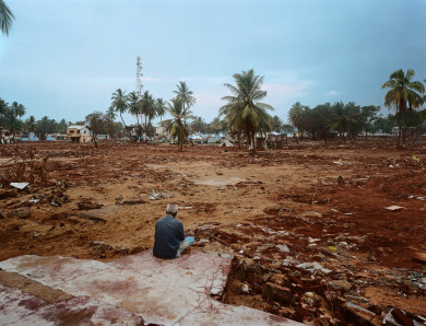 Staring at where his home once was - After the Tsunami - Sri Lan
