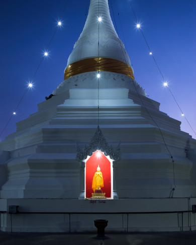 Wat Phra That Doi Kong Mu at Night - Mae Hong Son, Thailand