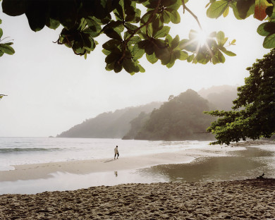 Man walking on the beach - Grande Riviere, Trinidad