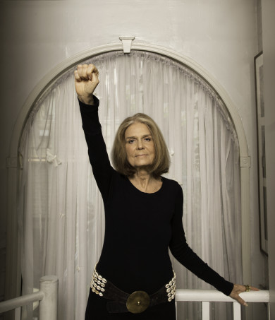Gloria Steinem photographed at her home in NYC 9/30/15