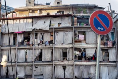 Apartments near Palestinian Refugee Camp Shatila in Beirut, Lebanon