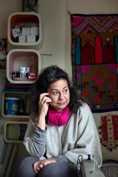 Zena Sabbagh in her apartment, Beirut, Labanon
