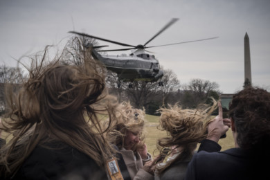 President Donald Trump and Melania Leave White House for Florida